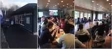 Et bilde som inneholder innendørs, personer, sitter, gruppe      Automatisk generert beskrivelse